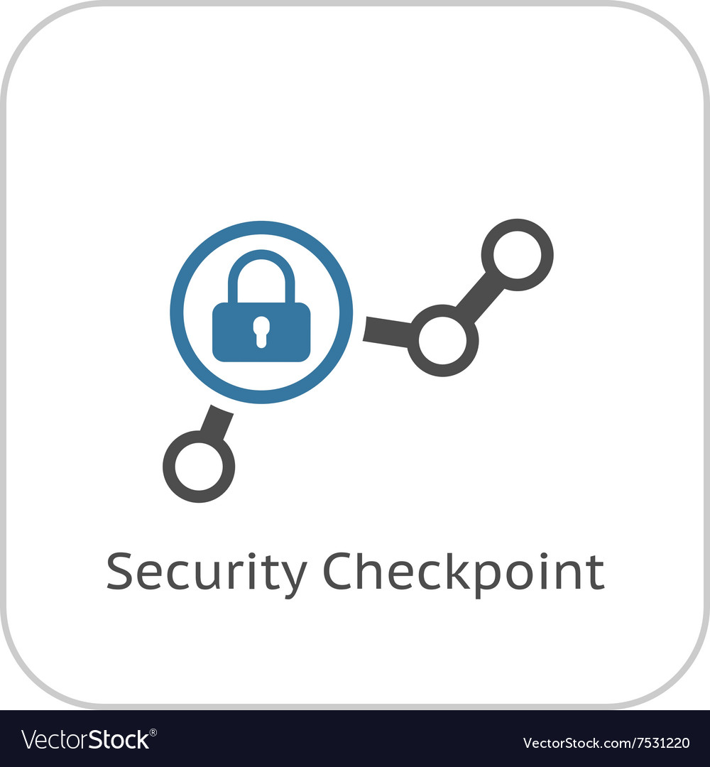Security checkpoint icon flat design vector