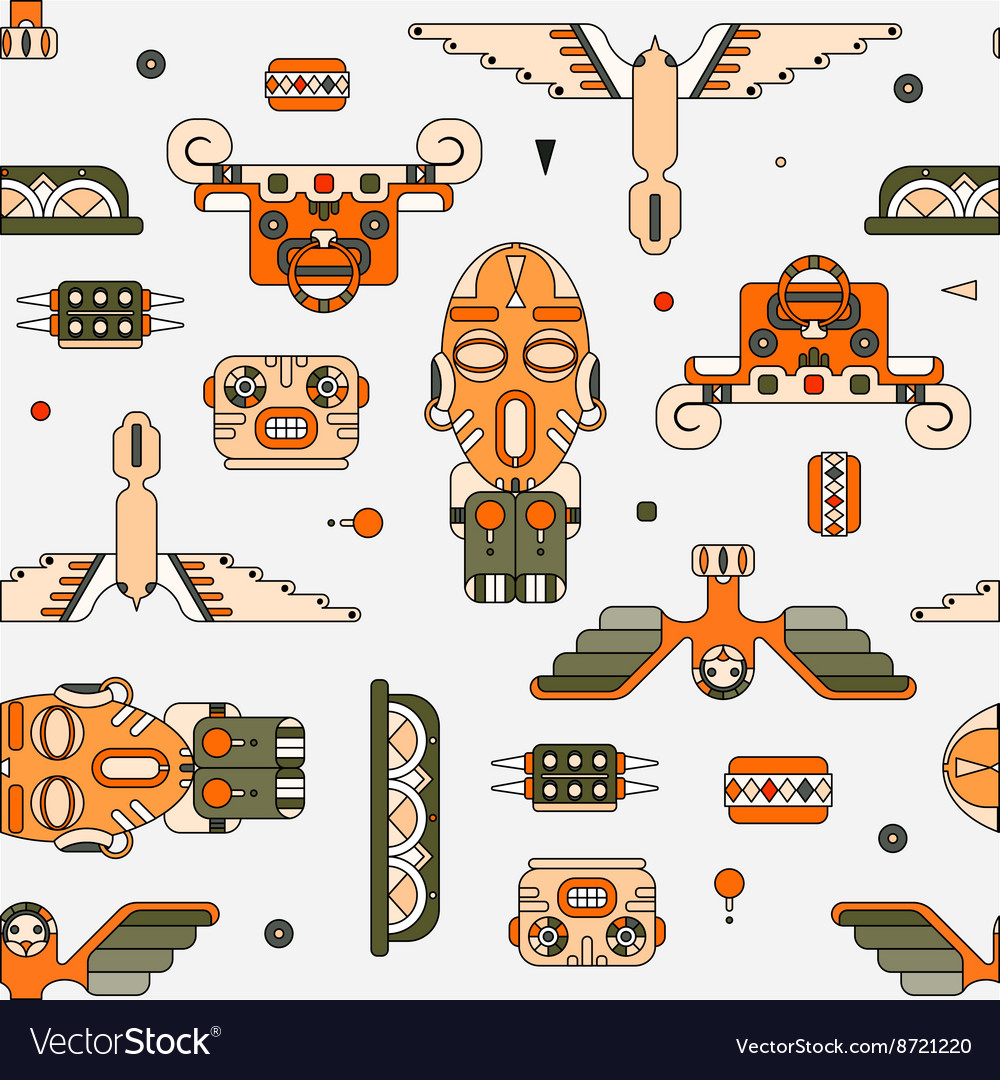 Totem elements background vector