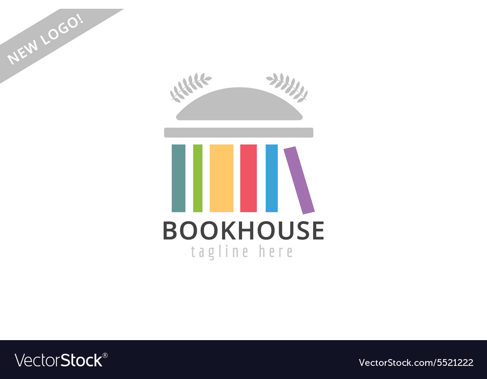Book building template logo icon back to school vector