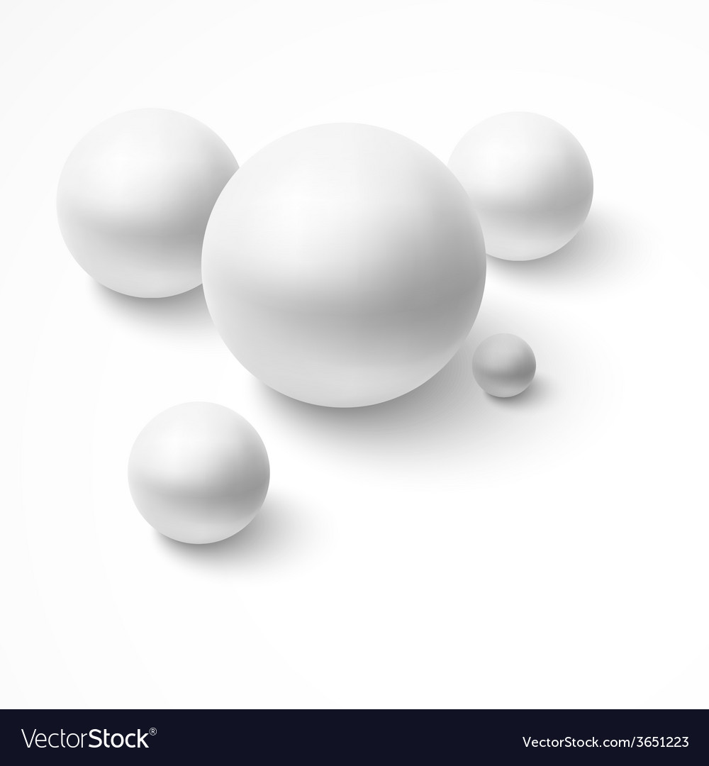 Abstract background with realistic spheres vector