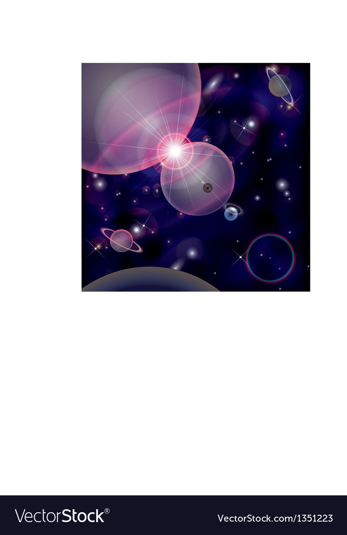 Cosmic bright background space planets collision vector