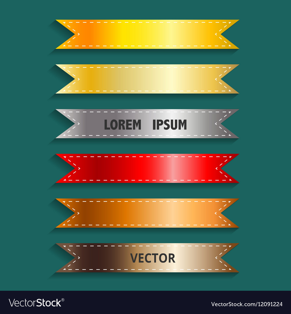 Show colorful ribbon promotional products design vector