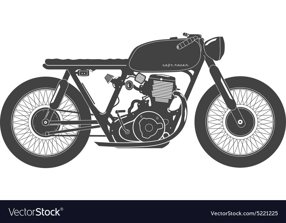 Old vintage motorcycle cafe racer theme vector