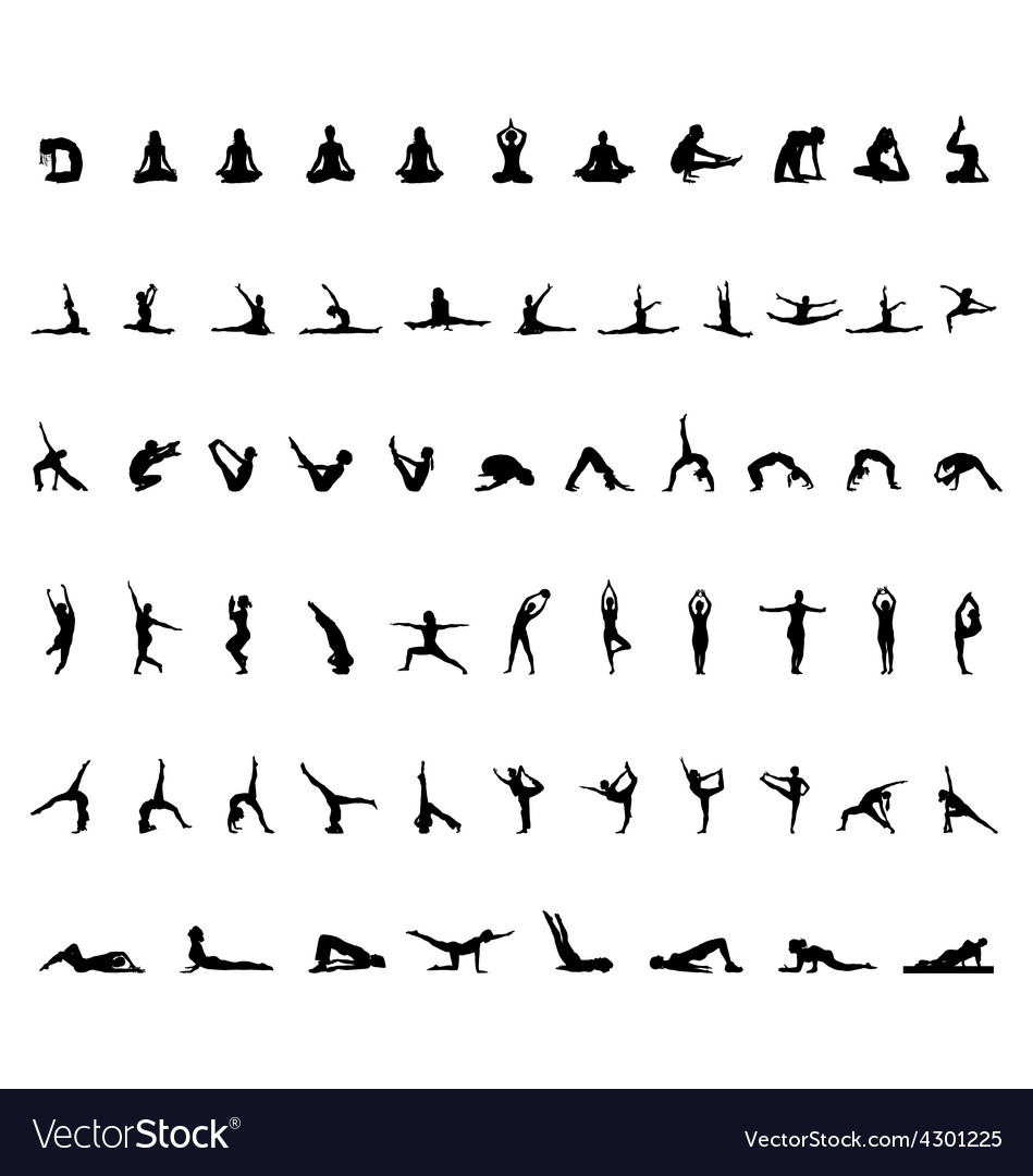 Yoga and gymnastics vector