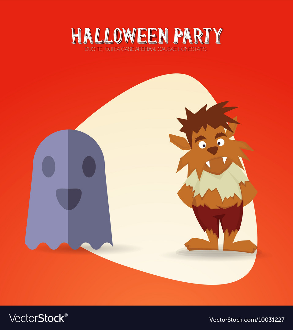 With halloween and ghost vector