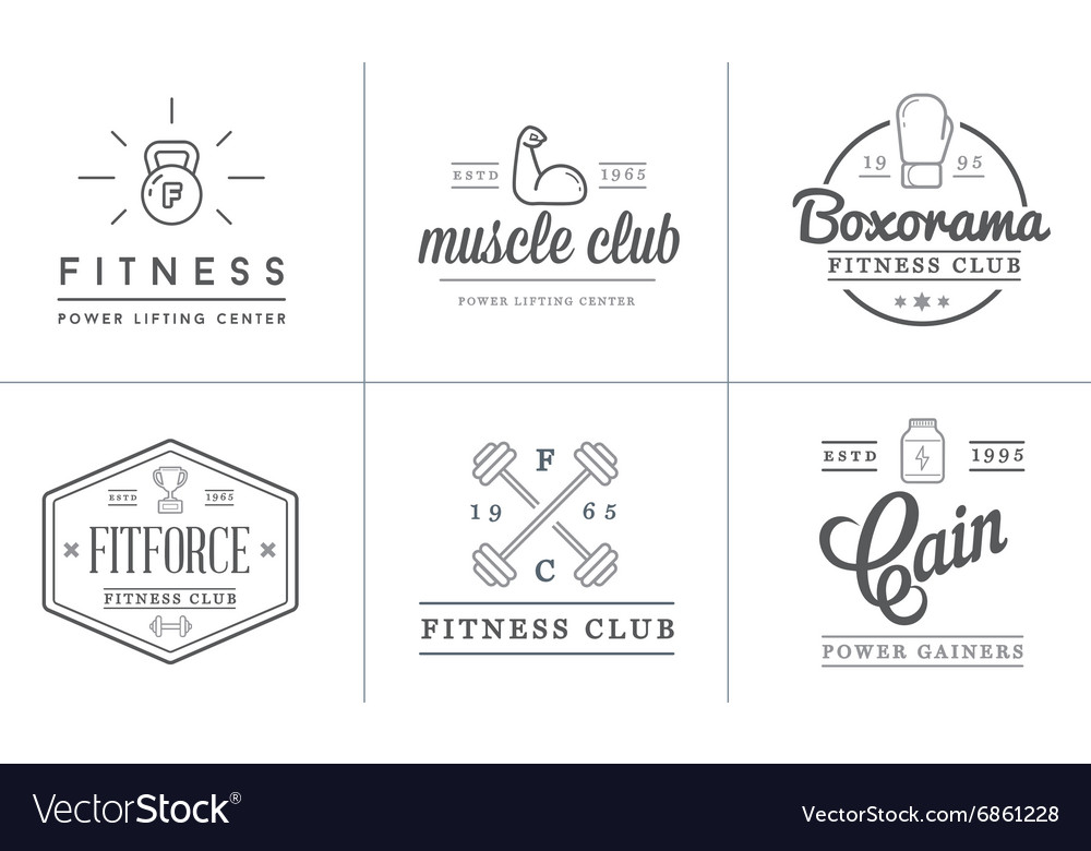 Set of fitness aerobics gym elements and fitness vector