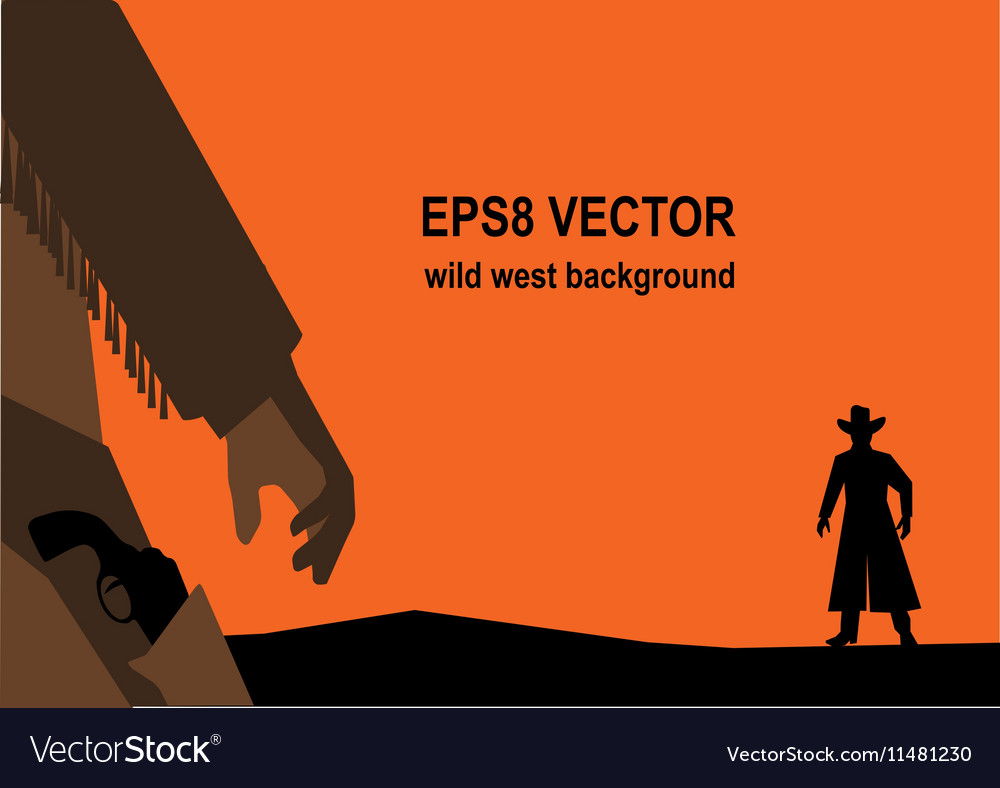 Old west gunfight or duel vector