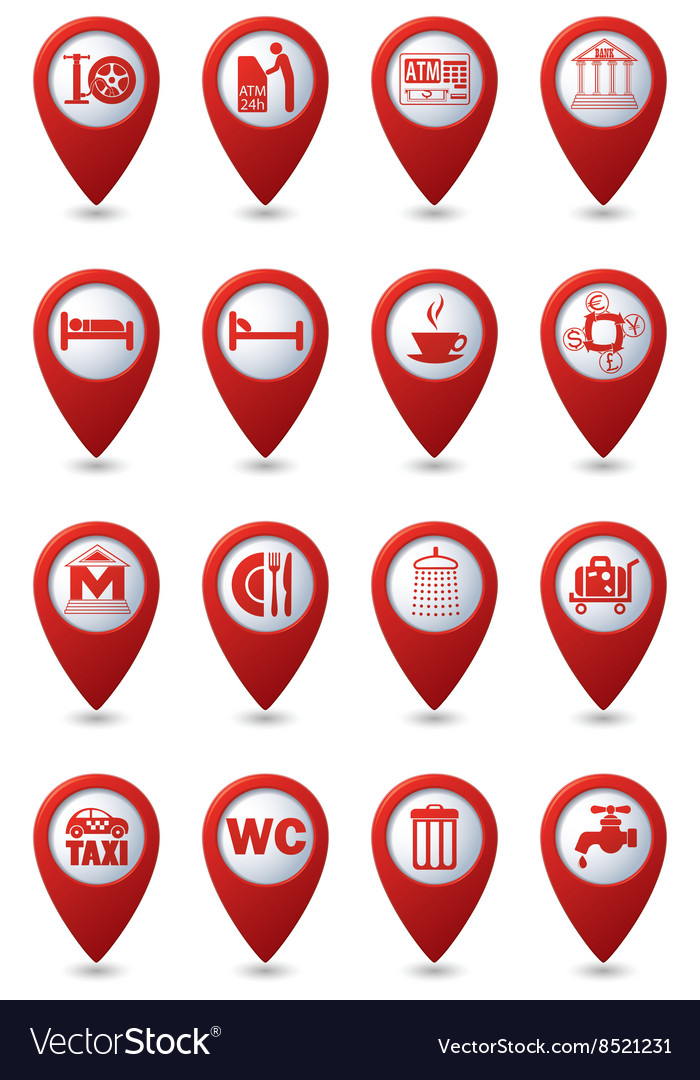 Set of 16 services and entertainment icons vector