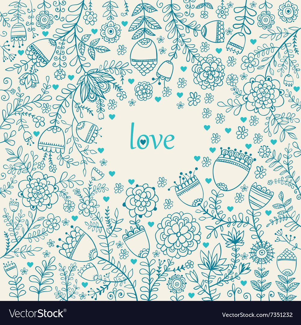 Valentine texture with flowers vector