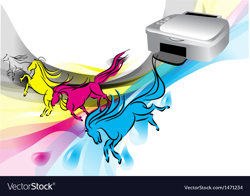 Colors of printer vector