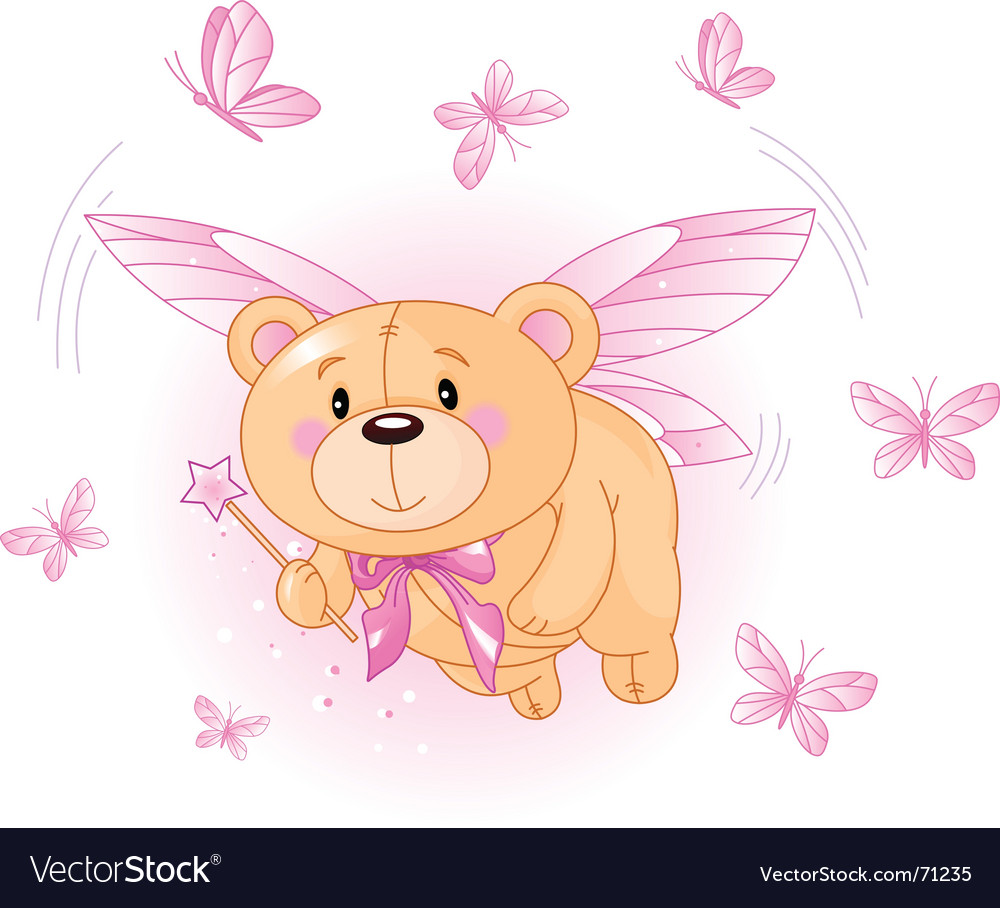 Bear flying vector