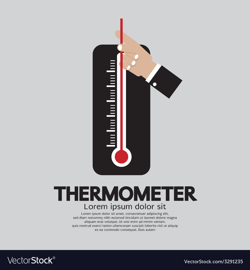 Mometer for weather vector
