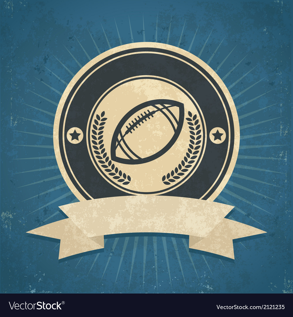 Retro american football emblem vector