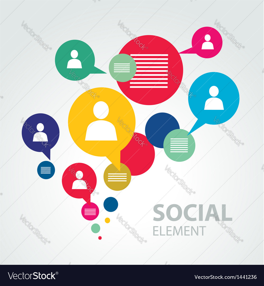 Social icon group element vector