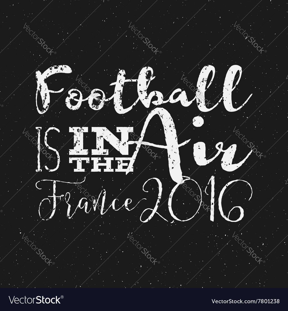 2016 football typography retro sign euro soccer vector