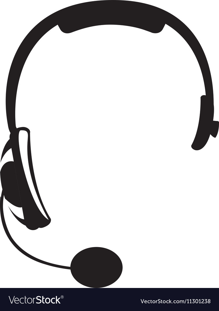 Headset headphones icon image vector