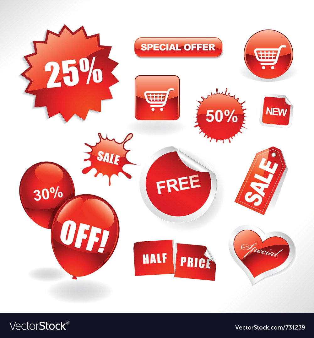 Sale items vector