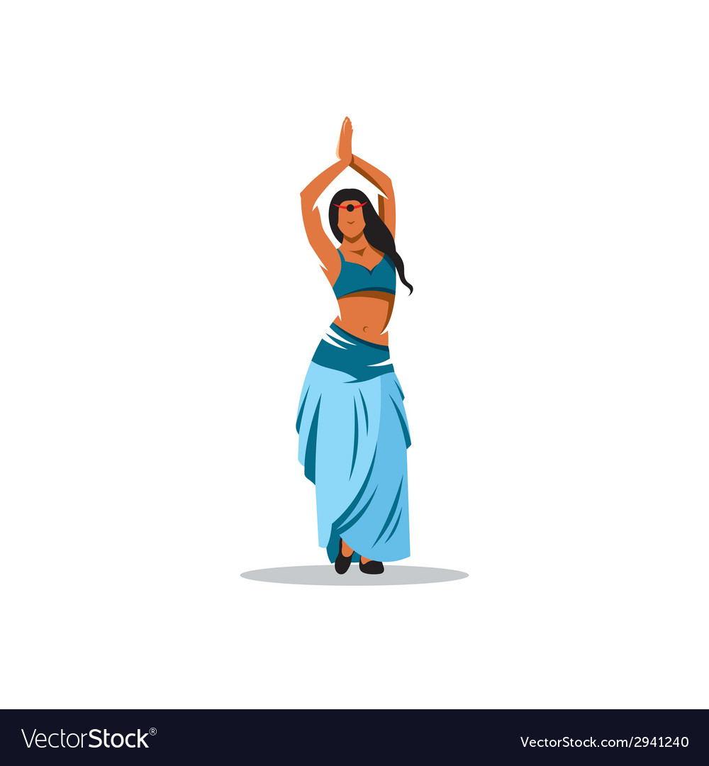 Belly dance girl sign vector