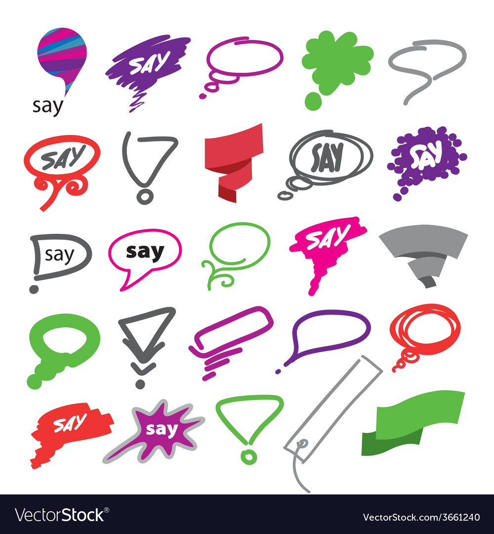 Biggest collection of bubbles and ribbon vector