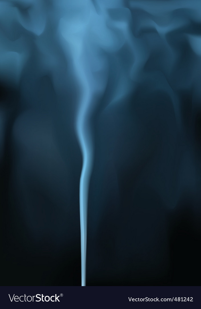Blue smoke vector