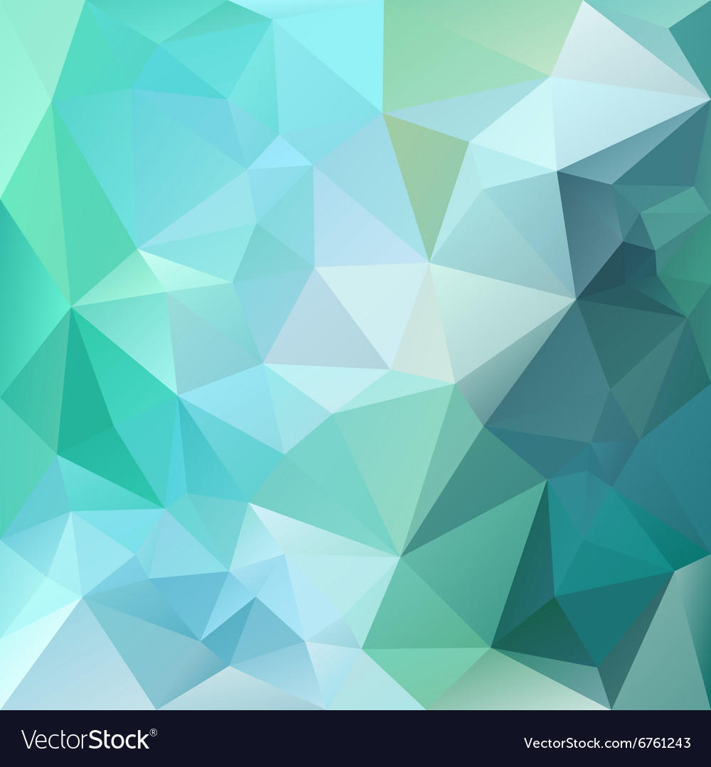 Green emerald polygonal triangular pattern vector
