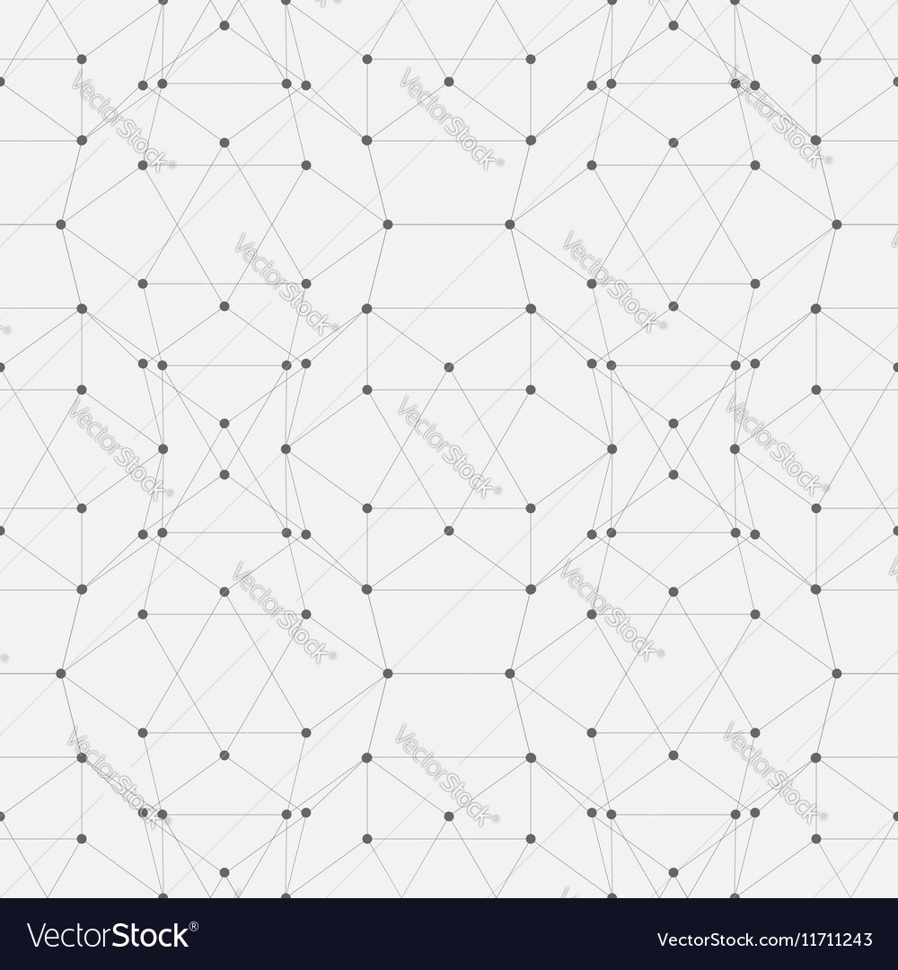Seamless background pattern of connected lines and vector