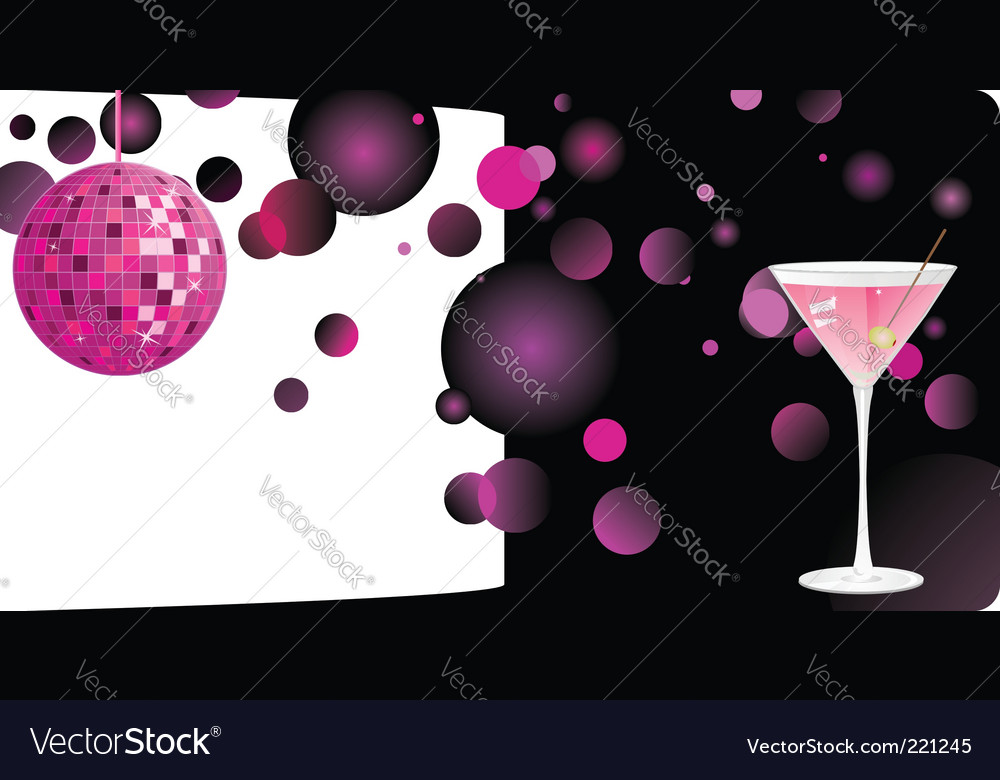 Disco shiny background vector