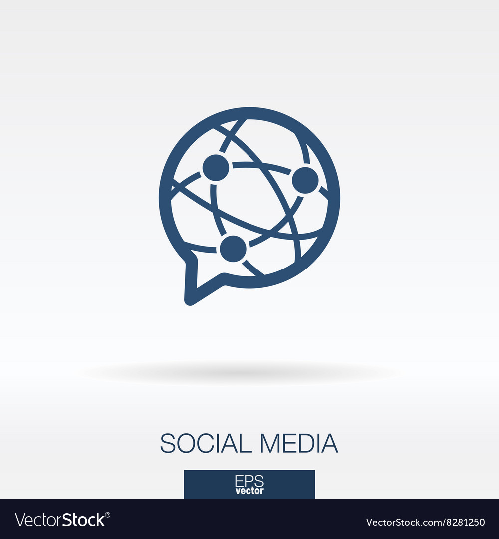 Social media concept icon logo vector