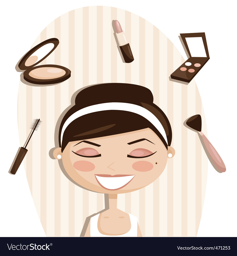 Makeup cartoons vector