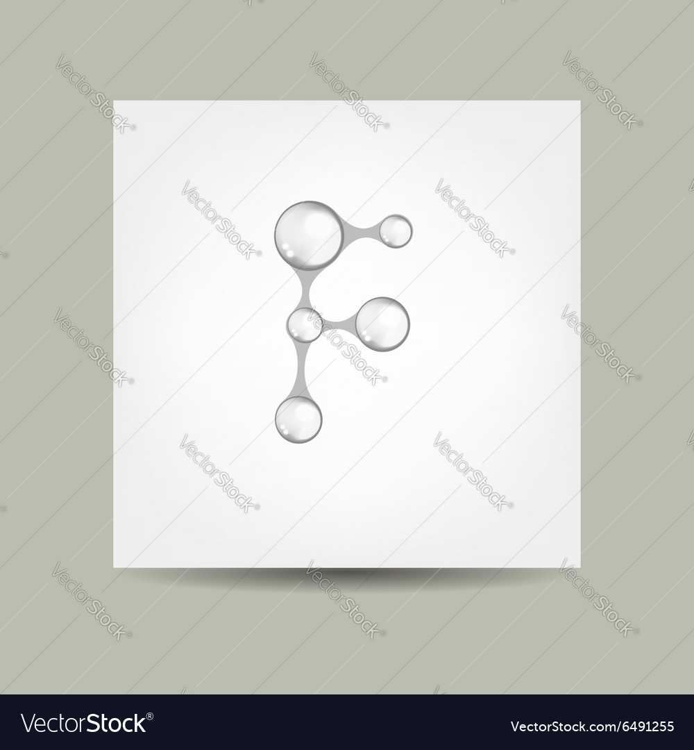 Business card design with letter f vector