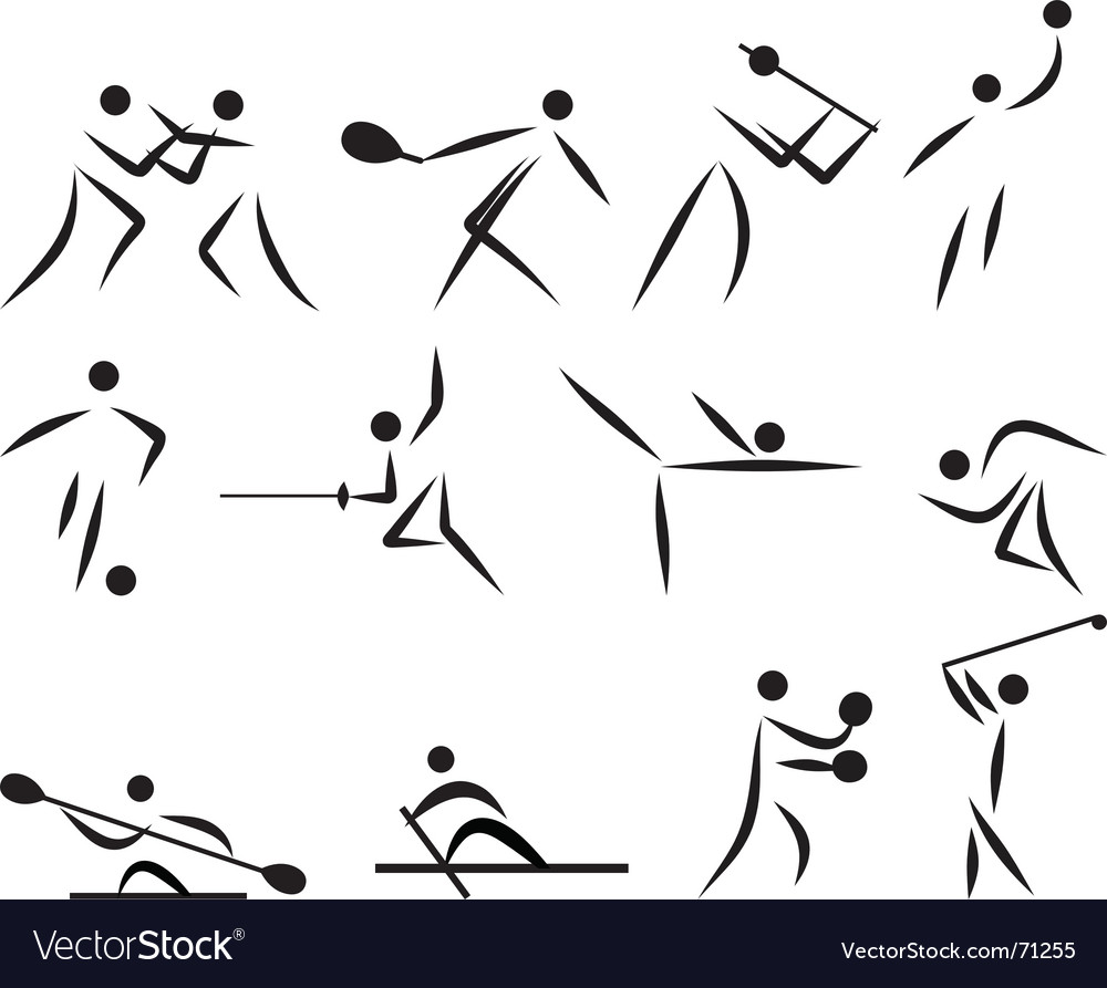 Summer sport icon set vector