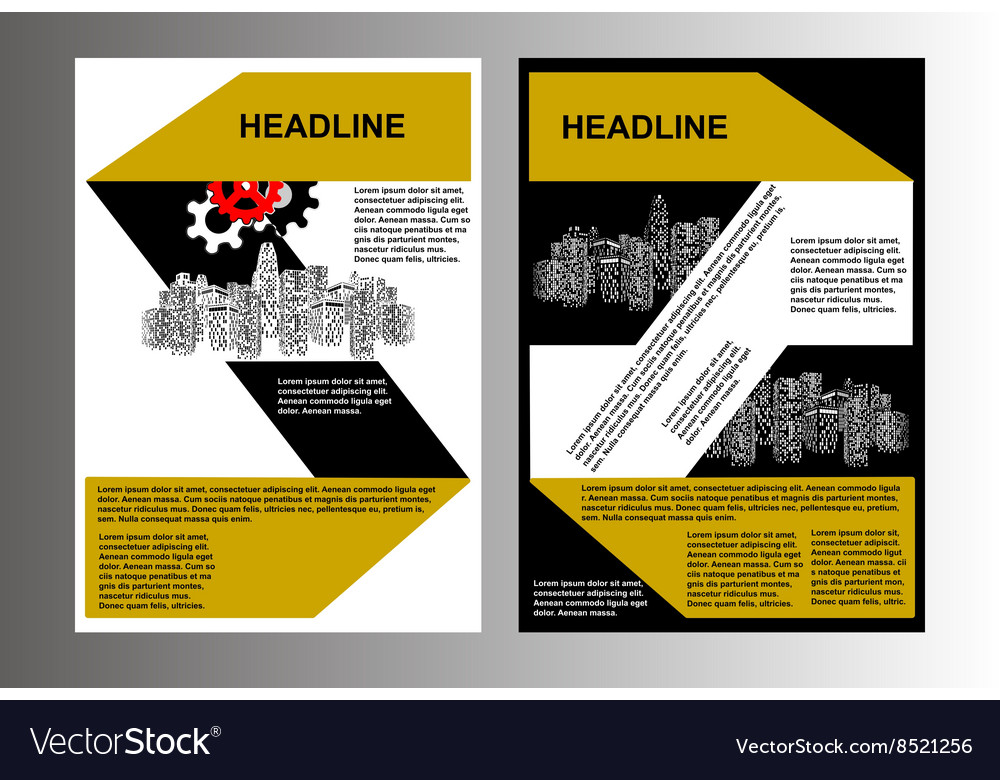 Brochure template cityscape vector