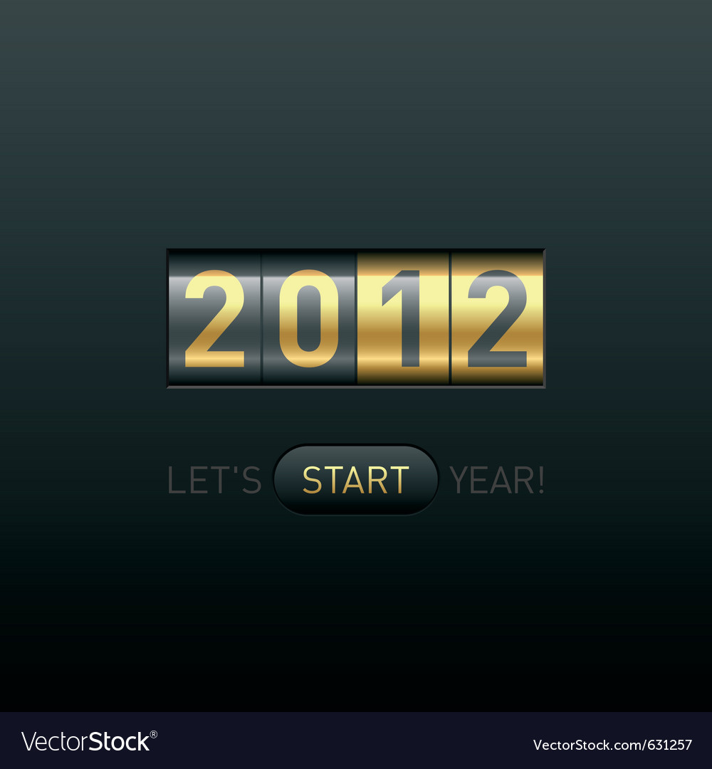 New year counter 2012 vector