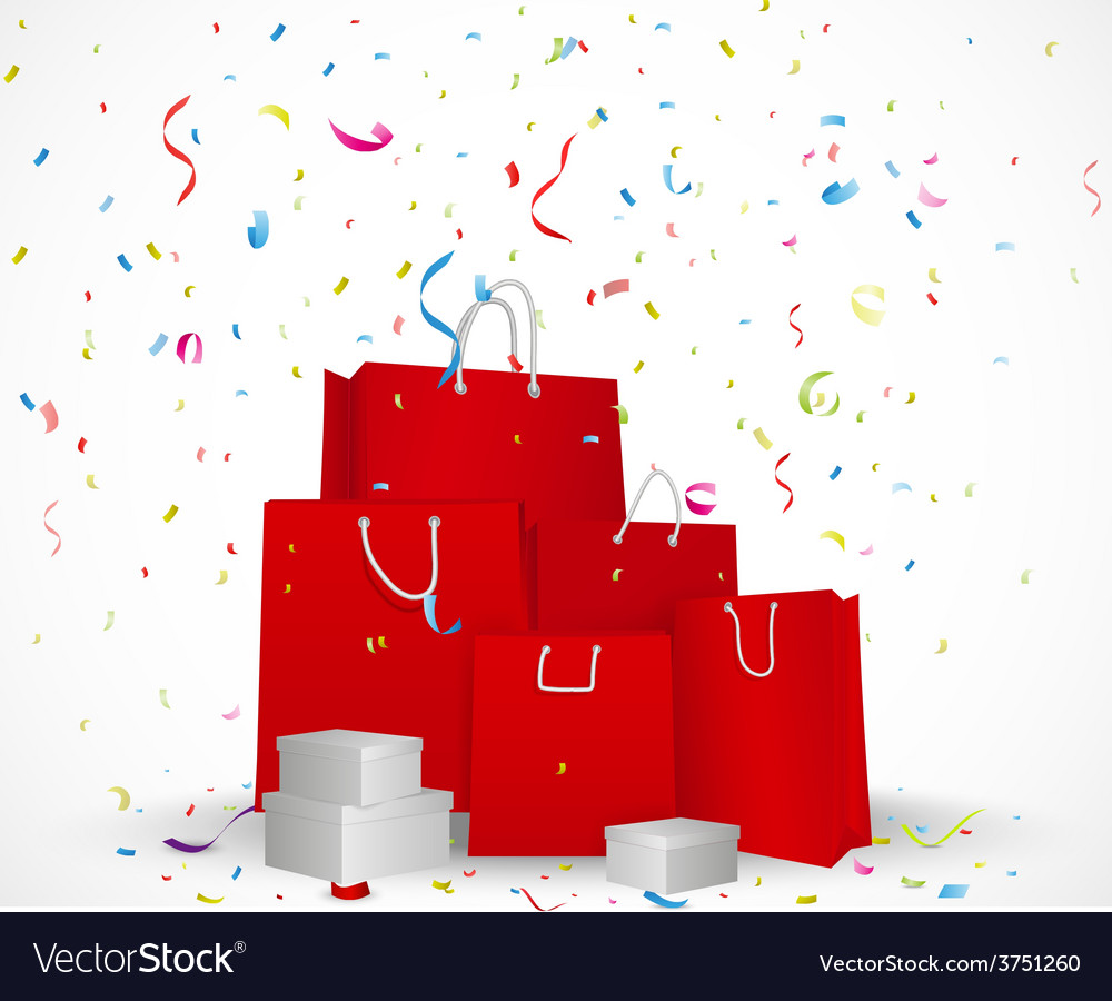 Sale celebration background concept vector