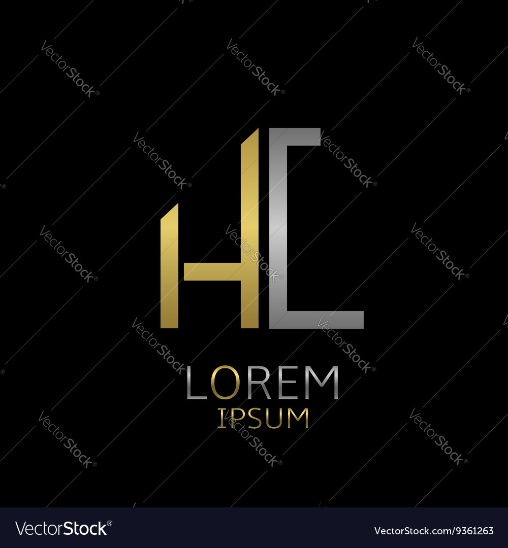 Hc letters logo vector