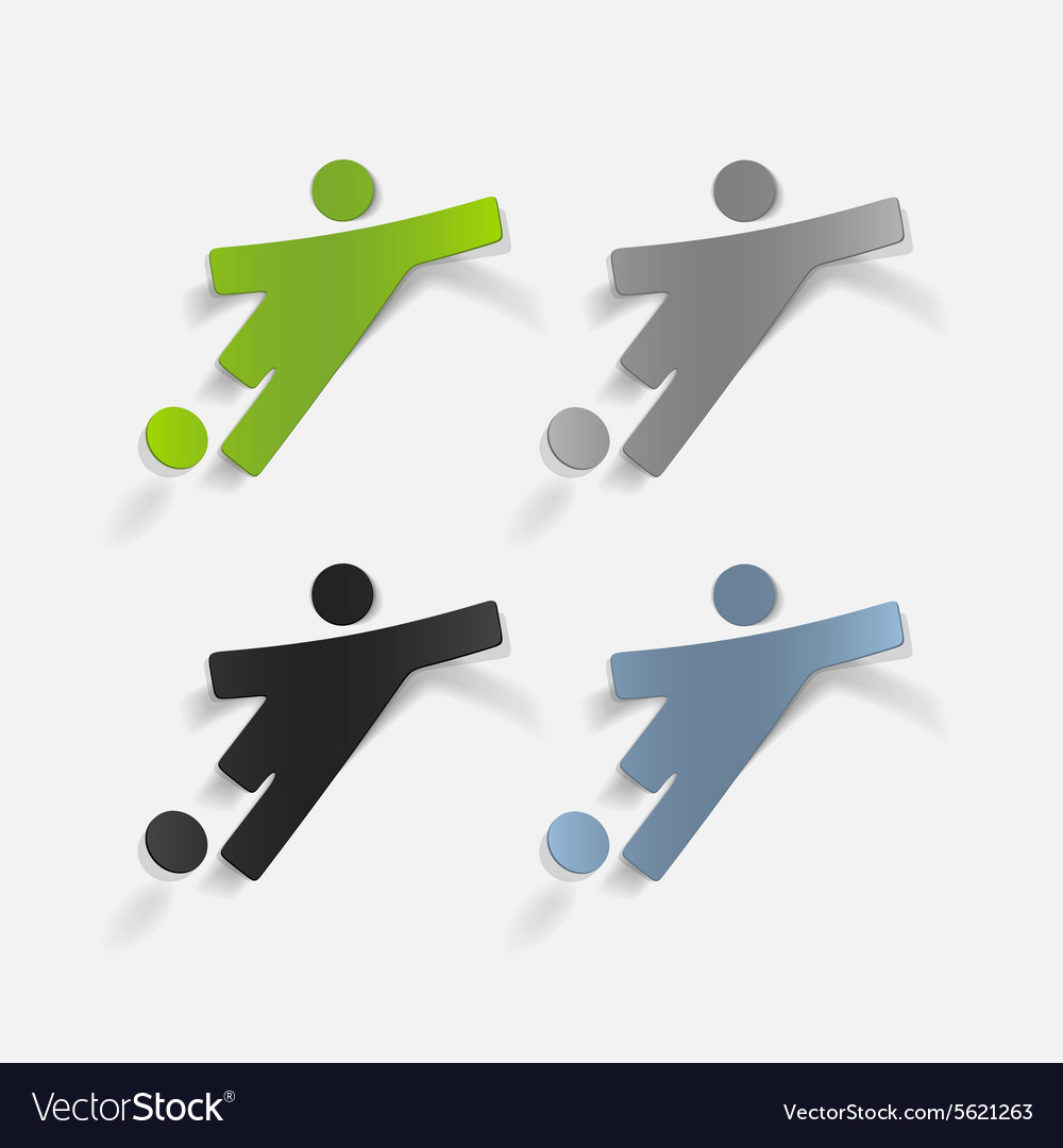 Realistic design element football player vector