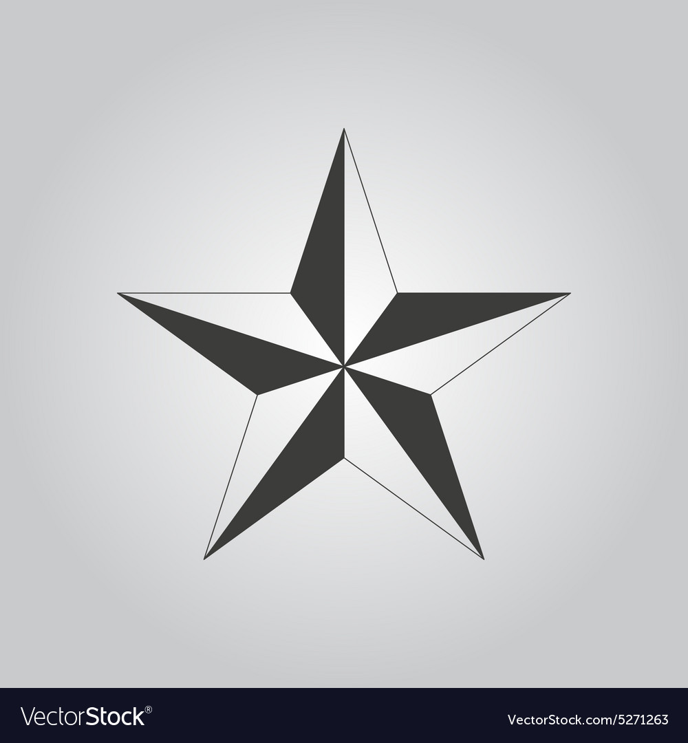 Star icon star symbol flat vector