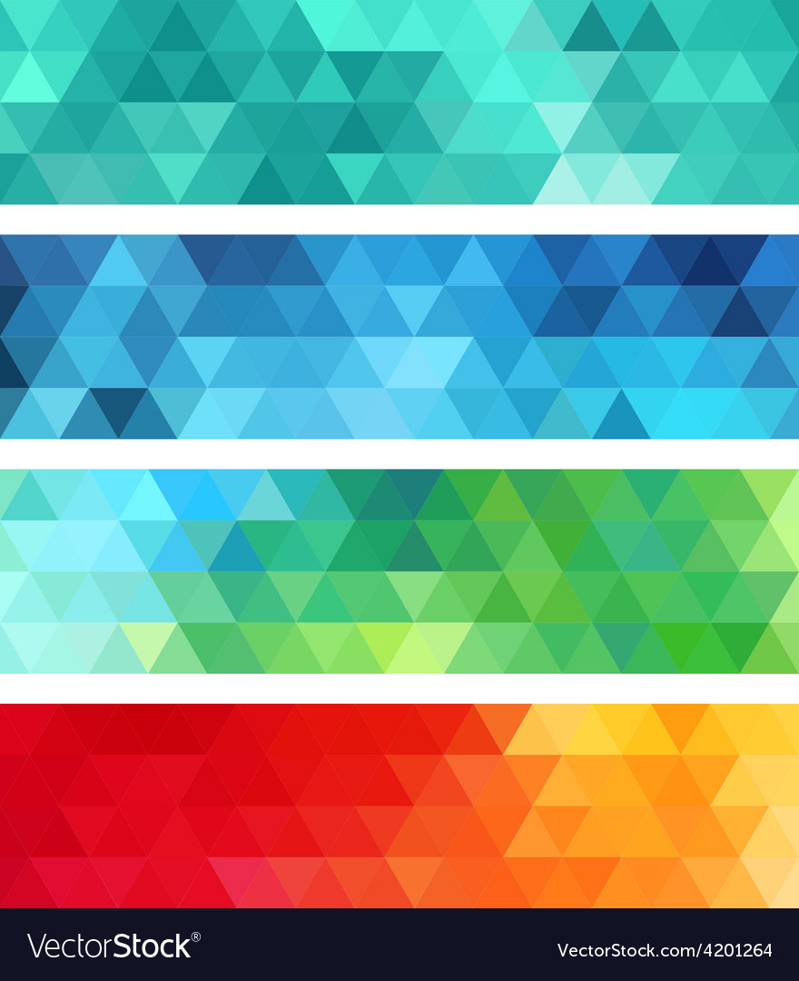 Abstract geometric banner set vector