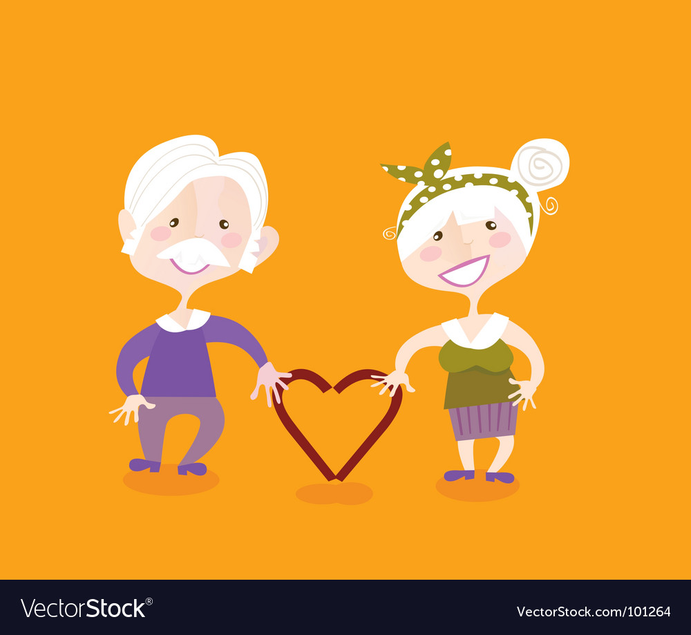 Grandparents in love vector