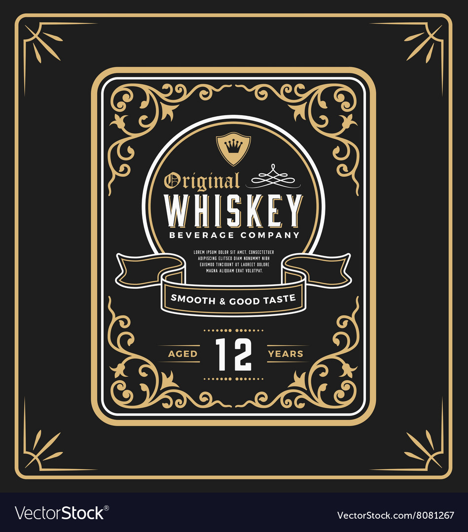 Vintage frame label design vector