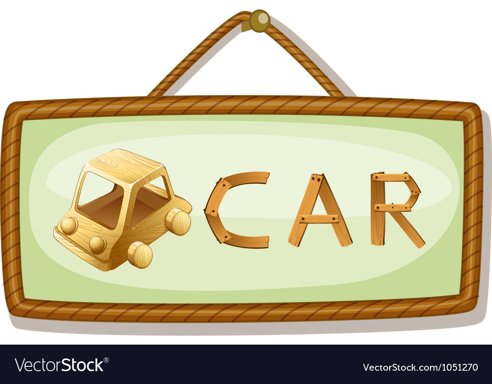 Board and car vector