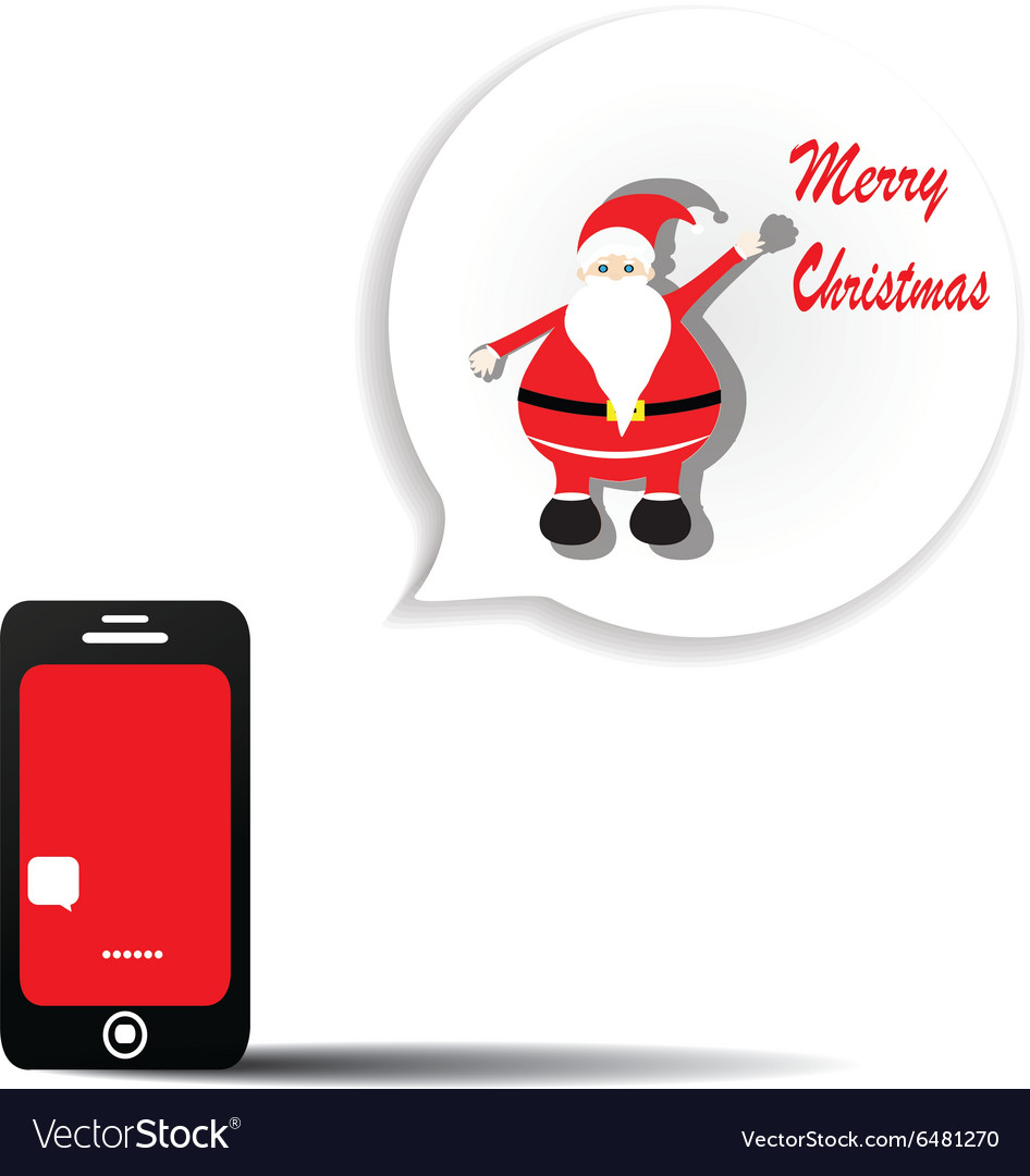 Send a message via telephone on christmas day vector