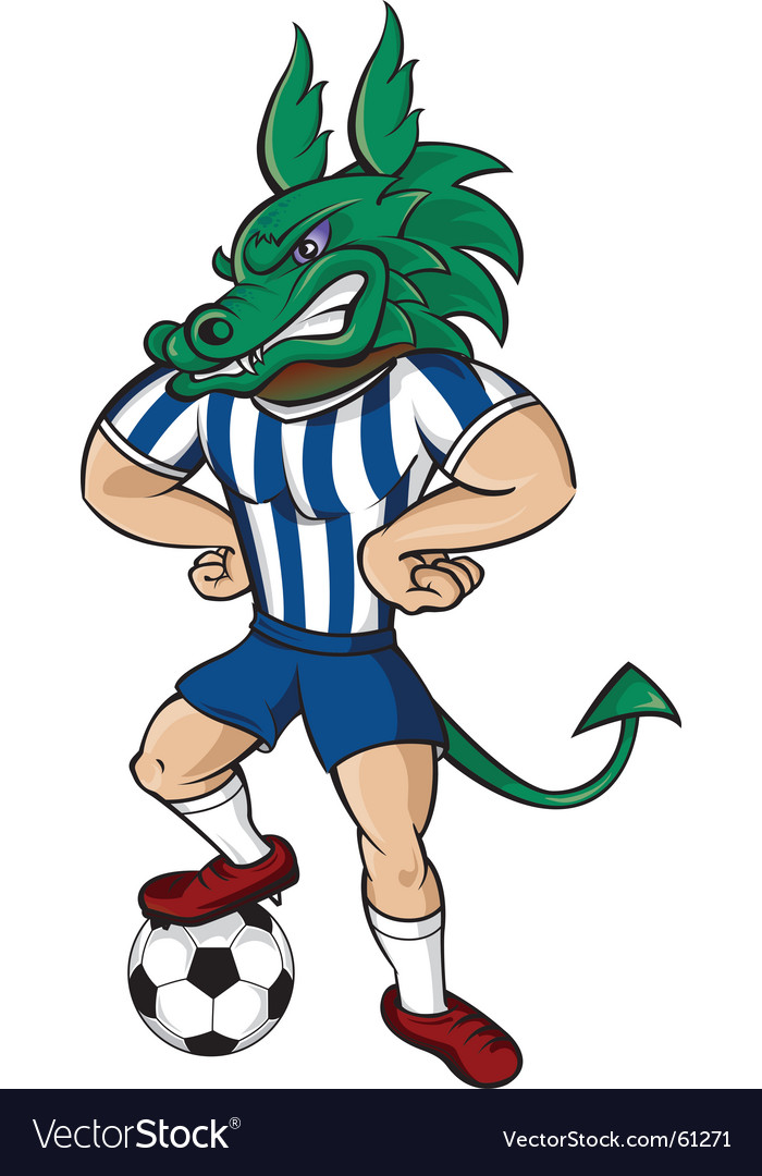 Soccer dragon vector