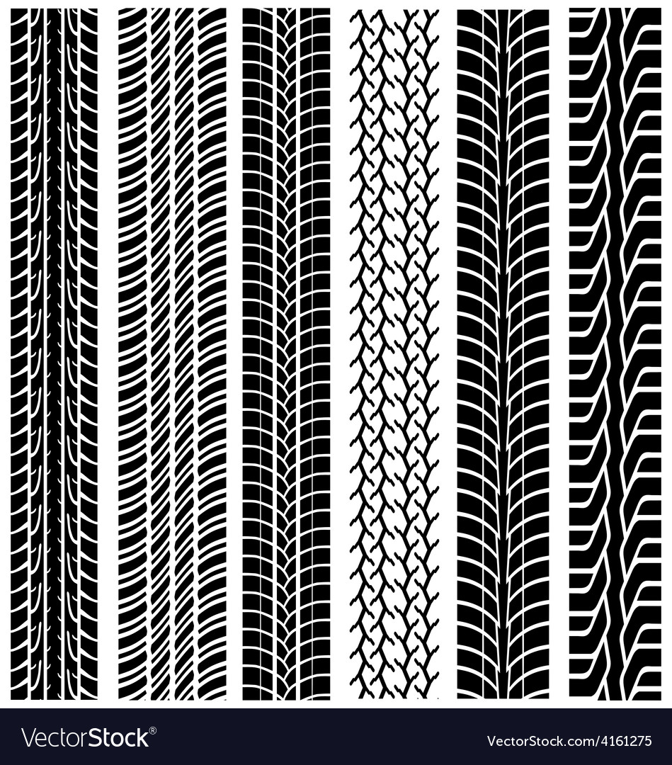 Tread of cars vector
