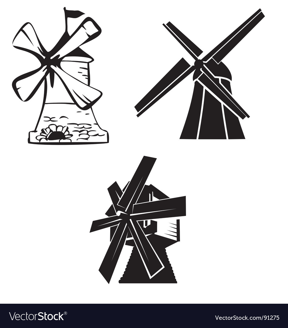 Wind mill vector