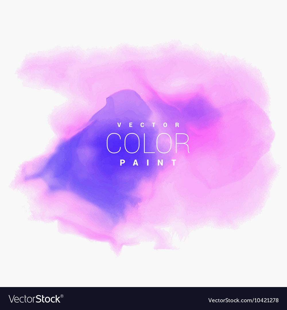 Colorful water color stain ink background vector
