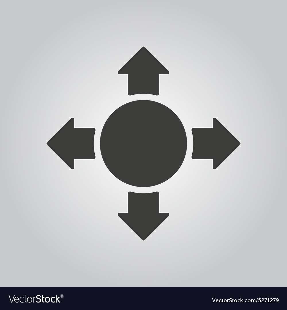 Arrow icon search symbol flat vector