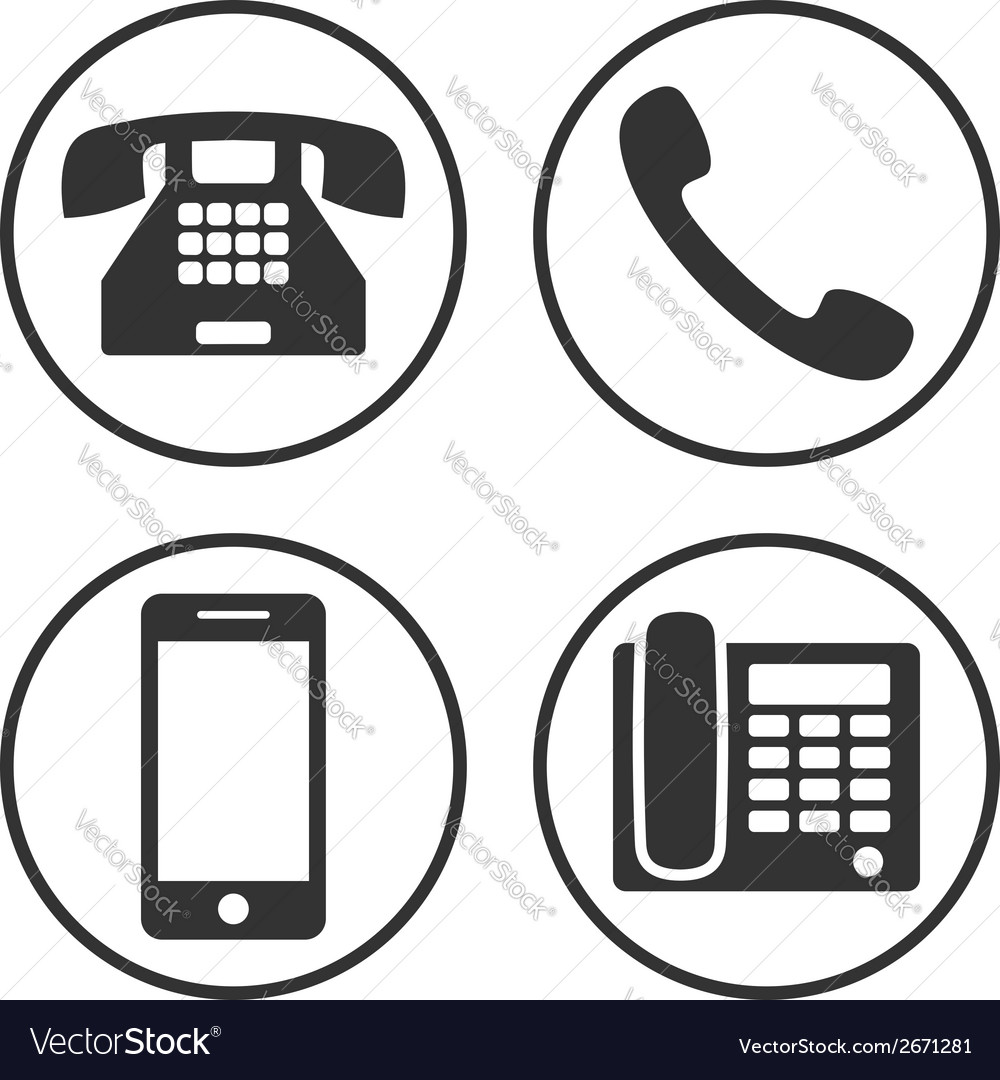 Set of simple phone icon vector