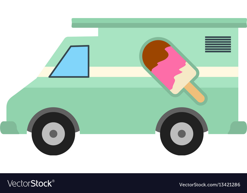 Icecream van vector