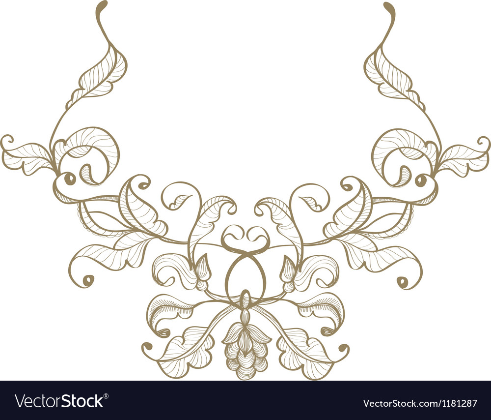 Retro ornament vector